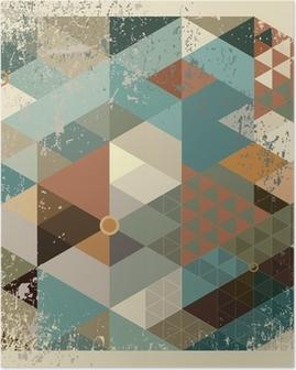 Plakat Geometryczne tle