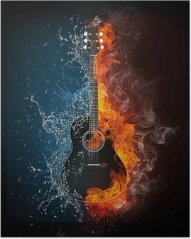 Plakat Gitara elektryczna