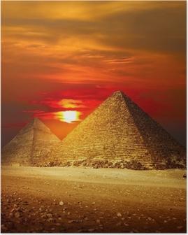 Plakat Giza valley