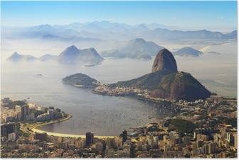 Plakat Głowa Cukru, Rio de Janeiro, Brazylia