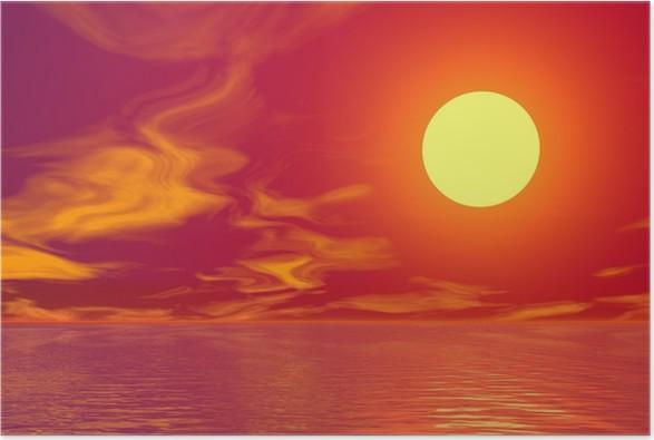 Plakát Golden Sunset - Značky a symboly