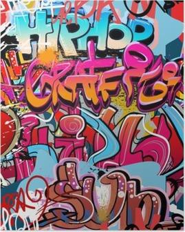 Plakat Graffiti, hip hop miejska sztuka tło
