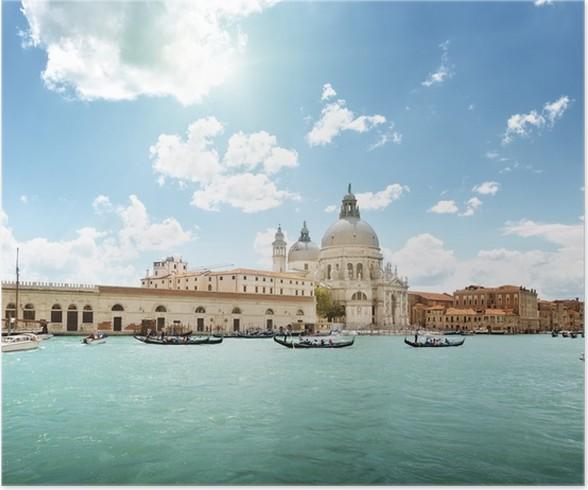 Plakát Grand Canal a Santa Maria della Salute bazilika, Benátky, Itálie - Evropská města