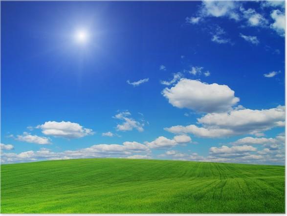 Plakát Green field - Nebe