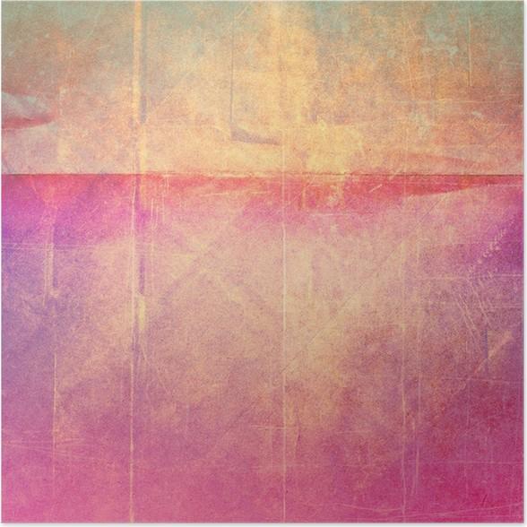 Plakát Grunge papíru textury, vinobraní pozadí - Do kavárny