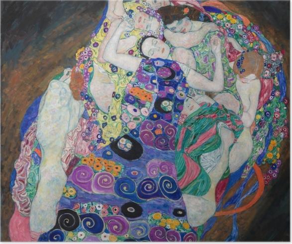 Plakat Gustav Klimt - Dziewica - Reprodukcje