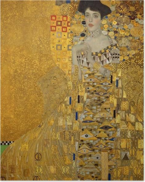 Plakat Gustav Klimt - Portret Adele Bloch-Bauer - Reprodukcje