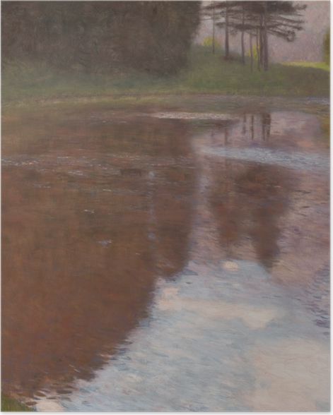 Plakat Gustav Klimt - Spokojny staw - Reprodukcje