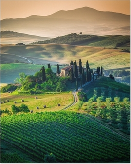 Plakat HD Tuscan country