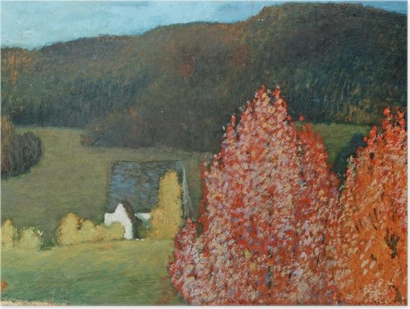 Plakat Helmer Osslund - Jesienny pejzaż z drzewami - Reproductions