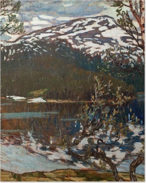 Plakat Helmer Osslund - Wiosenny dzień nad jezioren Rensjön w pobliżu Åre - Reproductions