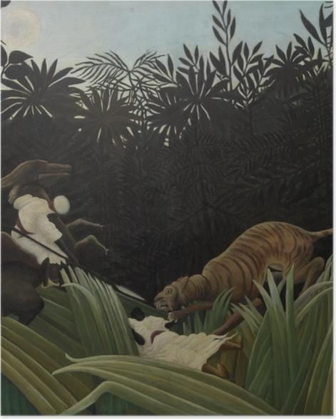 Plakat Henri Rousseau - Zwiadowca zaatakowany przez tygrysa - Reprodukcje