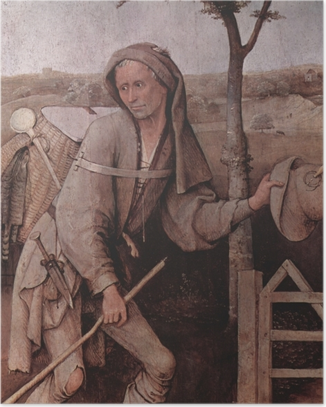 Plakat Hieronim Bosch - Wędrowiec - Reproductions