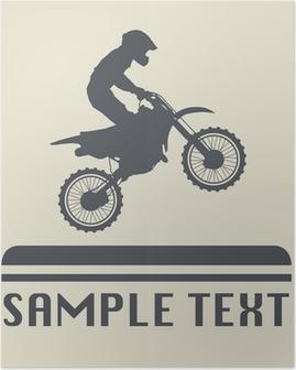 Plakat Ikona motocross lub zarejestruj, ilustracji wektorowych