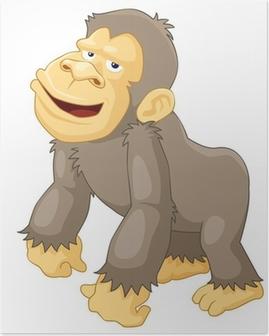 Plakát Ilustrace Monkeys