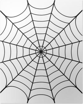 Plakat Ilustracja wektorowa z pajęczyna