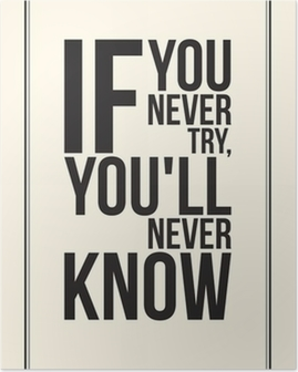 Plakat Inspiracja motywacja plakat. Black and White
