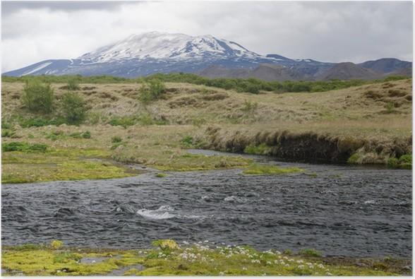 Plakát Islandská sopka Hekla - Evropa