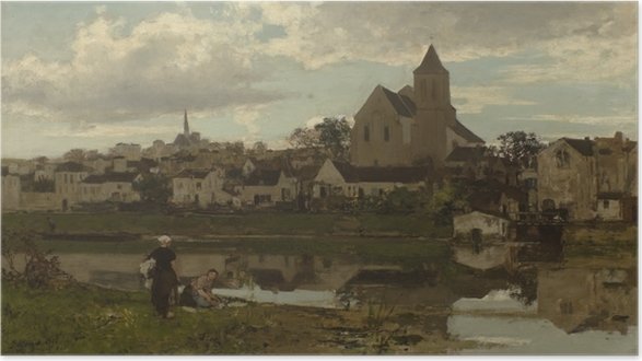 Plakat Jacob Maris - Widok na Montigny - Reproductions