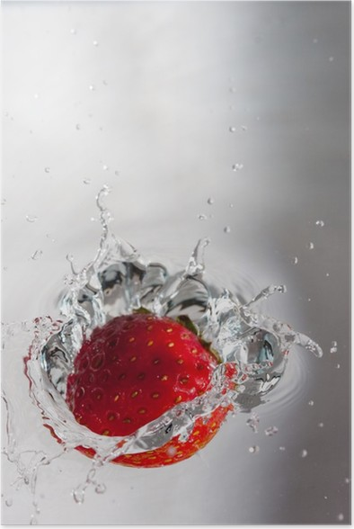 Plakát Jahoda ve vodě - Ovoce