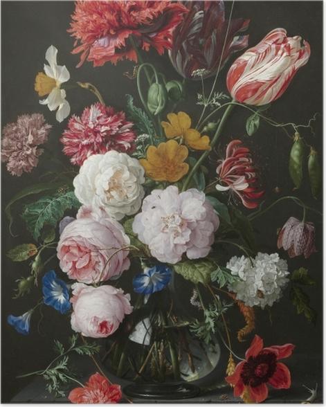 Plakat Jan Davidsz - Still Life with Flowers in a Glass Vase - Reprodukcje