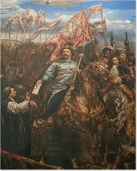 Plakat Jan Matejko - Jan Sobieski pod Wiedniem (fragment) -