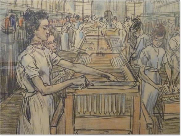 Plakat Jan Toorop - Fabryka świec w Gouda, 2 - Reproductions