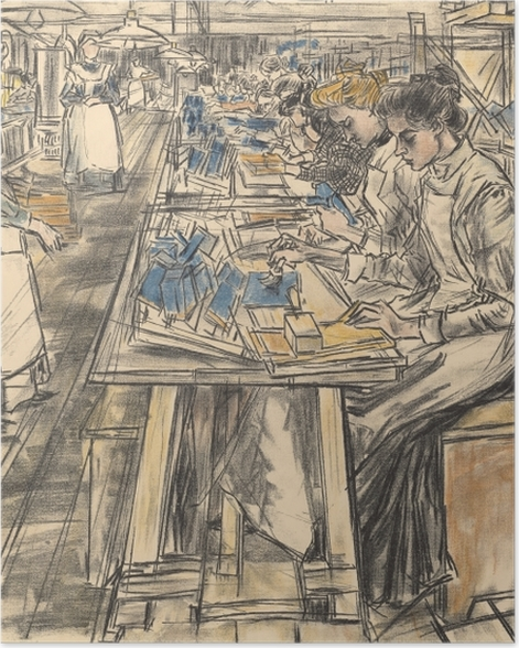 Plakat Jan Toorop - Fabryka świec w Gouda, 5 - Reproductions