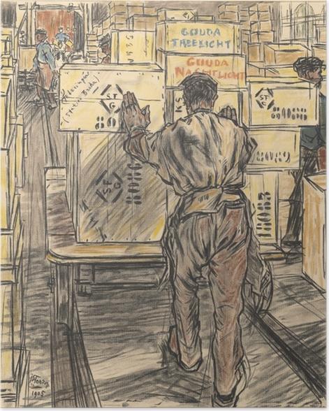Plakat Jan Toorop - Magazyn - Fabryka świec w Gouda, 4 - Reproductions