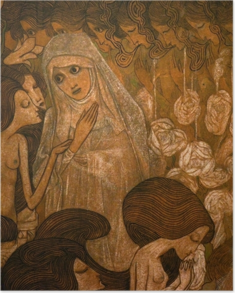 Plakat Jan Toorop - Trzy panny młode II - Reproductions