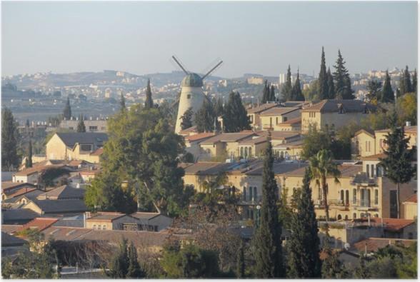 Plakát Jeruzalém - Střední Východ