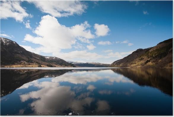 Plakát Jezero v západní Norsko - Evropa
