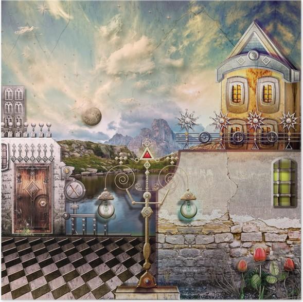 Plakát Jezero za svítání na jaře - Prázdniny