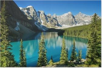 Plakat Jeziora morenowe, Park Narodowy Banff