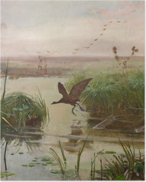 Plakat Józef Chełmoński - Kurka wodna - Reproductions