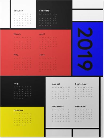 Plakát Kalendář 2019 - Art -