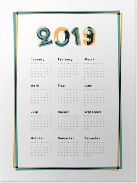 Plakát Kalendář 2019 - City -