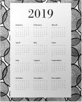 Plakát Kalendář 2019 - Kmeny stromů