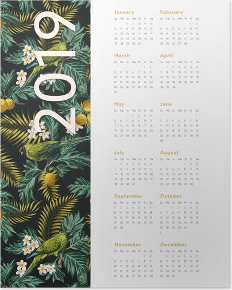 Plakát Kalendář 2019 - podzim -