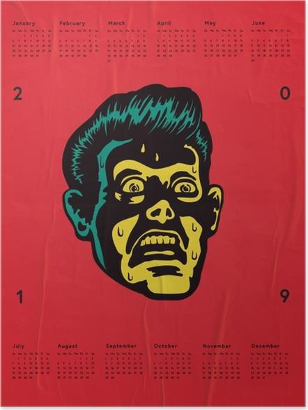 Plakát Kalendář 2019 – Strach -