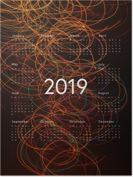Plakat Kalendarz 2019 - abstrakcja - Kalendarze 2018
