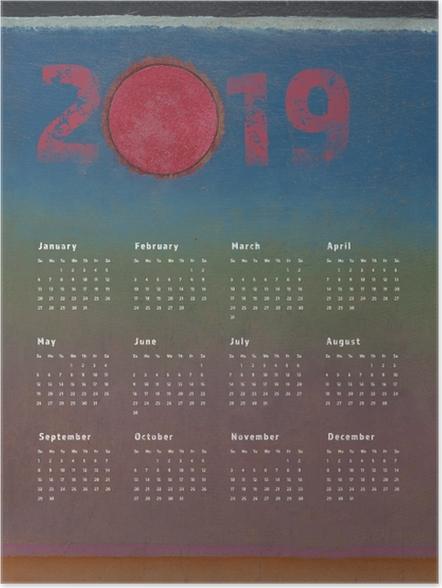 Plakat Kalendarz 2019 - akwarela - Kalendarze 2018