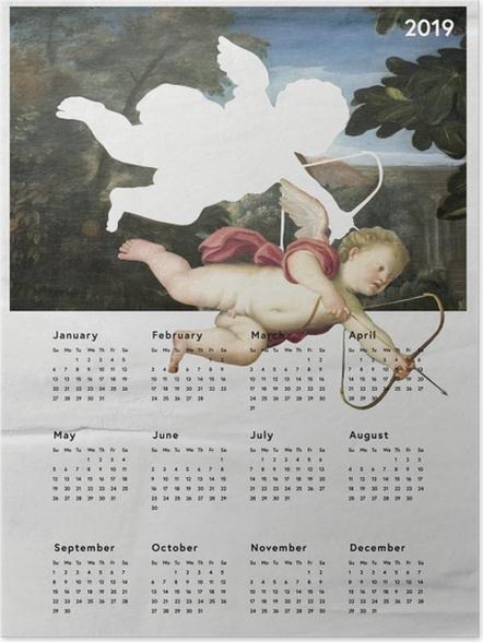Plakat Kalendarz 2019 - anioł - Kalendarze 2018