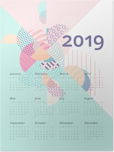 Plakat Kalendarz 2019 - Geometria - Kalendarze 2018