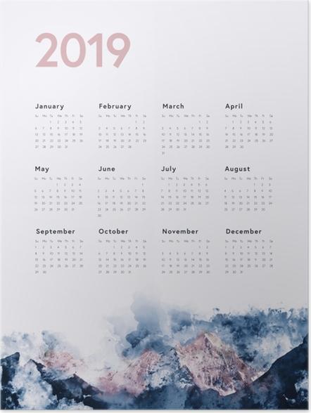 Plakat Kalendarz 2019 - góry - Kalendarze 2018