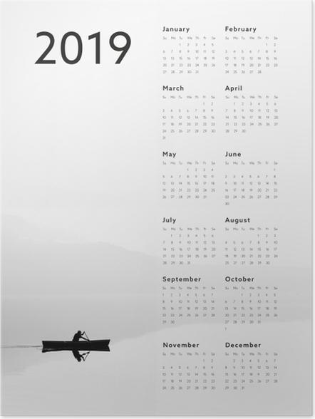 Plakat Kalendarz 2019 - jezioro - Kalendarze 2018