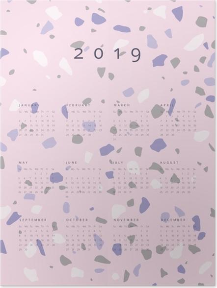Plakat Kalendarz 2019 - lastryko - Kalendarze 2018