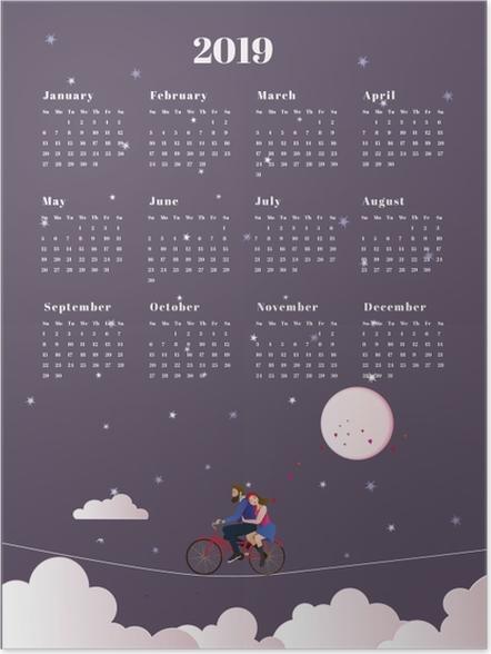 Plakat Kalendarz 2019 - podróż - Kalendarze 2018
