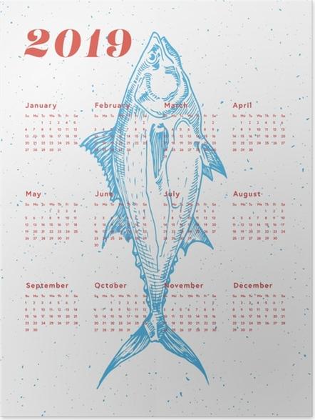Plakat Kalendarz 2019 - ryba - Kalendarze 2018