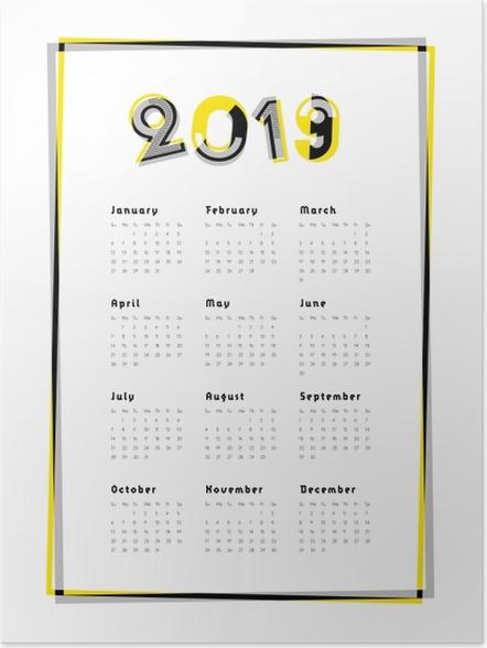 Plakat Kalendarz 2019 - Kalendarze 2018